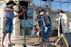 Chybienie Scania. Muzyka country koncert. Zdjęcia Stock