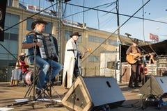 Chybienie Scania. Muzyka country koncert. Fotografia Stock