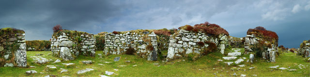 Chysauster Ancient Village (English Heritage) Stock Photo