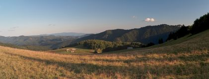 Chyzky pasture in Velka Fatra mountains in Slovakia Royalty Free Stock Photography
