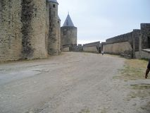 Château de Carcassone en France photos stock