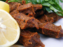 Ciğ köfte resimleri. Acılı türk usulu çiğ köfte Stock Photo