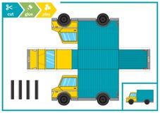 Cięcie i klei papierowego samochód Dziecko sztuki gra dla aktywności strony Papierowy 3d ślad również zwrócić corel ilustracji we ilustracja wektor