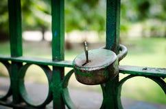 Ciérrese con la llave en ella Foto de archivo libre de regalías