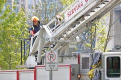Ciérrese en el bombero de Vancouver Imagen de archivo