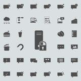ciérrese en el icono del servidor Sistema detallado de iconos minimalistic Muestra superior del diseño gráfico de la calidad Uno  libre illustration
