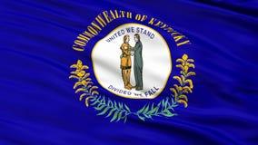 Ciérrese encima de agitar la bandera nacional de Kentucky libre illustration