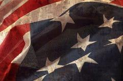 Ciérrese encima de bandera del estado unido de América Imagen de archivo