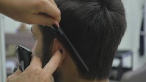 Ciérrese encima de Barber Haircut Clipper Slow Motion metrajes