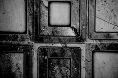 Ciérrese encima de blanco y negro de una textura de la teja del cuarto de baño foto de archivo libre de regalías