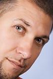 Ciérrese encima de cara del hombre foto de archivo libre de regalías