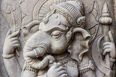 Ciérrese encima de cara hindú de dios del ganesh. Imágenes de archivo libres de regalías