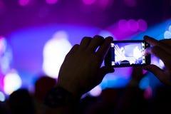 Ciérrese encima de concierto de rock Fotos de archivo libres de regalías