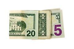 Ciérrese encima de escrito 2015 con los dólares Fotografía de archivo libre de regalías