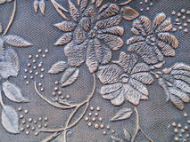 Ciérrese encima de floral grabada en relieve textura Fotos de archivo