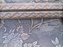 Ciérrese encima de floral grabada en relieve textura y de onda Imagen de archivo libre de regalías