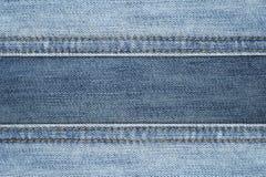 Ciérrese encima de fondo de la textura del extracto de los vaqueros de la costura Imágenes de archivo libres de regalías