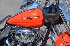 Ciérrese encima de Harley Davidson foto de archivo