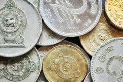 Ciérrese encima de imagen de la rupia srilanquesa Fotografía de archivo