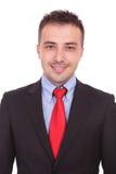 Ciérrese encima de imagen de un hombre de negocios joven hermoso Foto de archivo