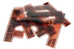Vieja tira de la película negativa de 35 milímetros Fotografía de archivo libre de regalías