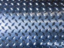 Ciérrese encima de imagen del backgr de acero de la textura de la hoja de metal de la placa del inspector Foto de archivo libre de regalías