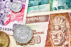 Ciérrese encima de imagen del quetzal guatemalteco Imagen de archivo libre de regalías