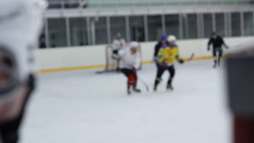Ciérrese encima de juego de hockey de observación almacen de video