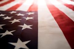 Ciérrese encima de la bandera de los Estados Unidos de América Día de la Independencia de los E.E.U.U., 4 fotos de archivo libres de regalías