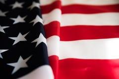 Ciérrese encima de la bandera de los Estados Unidos de América Día de la Independencia de los E.E.U.U., 4 foto de archivo