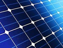Ciérrese encima de la batería de la célula solar Foto de archivo