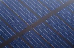 Ciérrese encima de la batería de la célula solar Fotografía de archivo libre de regalías