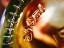Ciérrese encima de la botella de whisky Imagen de archivo libre de regalías