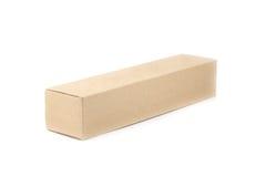 Ciérrese encima de la caja de papel marrón Foto de archivo libre de regalías