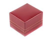 Ciérrese encima de la caja roja Fotos de archivo