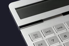 Ciérrese encima de la calculadora foto de archivo
