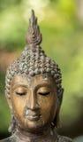 Ciérrese encima de la cara de Buda Imagenes de archivo
