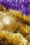 Ciérrese encima de la decoración de la Navidad Foto de archivo