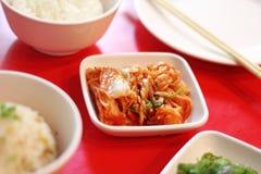 Ciérrese encima de la ensalada coreana picante de la col Fotografía de archivo libre de regalías
