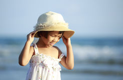 Ciérrese encima de la foto de la pequeña muchacha asiática linda Fotos de archivo libres de regalías
