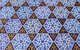 Ciérrese encima de la foto de tejas turcas hechas a mano Imagen de archivo libre de regalías