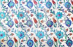 Ciérrese encima de la foto de tejas turcas hechas a mano, en el palacio de Topkapi, los Ist Foto de archivo