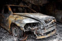 Ciérrese encima de la foto de un coche del quemar Fotos de archivo