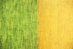 Ciérrese encima de la línea textura del ruido de la tela del verde amarillo Fotos de archivo libres de regalías