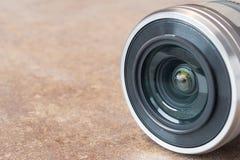 Ciérrese encima de la lente de cámara Fotografía de archivo libre de regalías