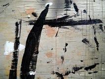 Ciérrese encima de la madera rasguñada pintada textura Fotos de archivo libres de regalías