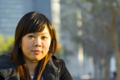Ciérrese encima de la muchacha asiática joven 2 Imagen de archivo libre de regalías