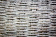 Ciérrese encima de la opinión del detalle de una armadura de cesta de mimbre Foto de archivo libre de regalías