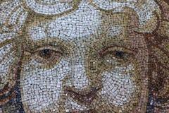 Ciérrese encima de la querube Angel Face del mosaico Imágenes de archivo libres de regalías
