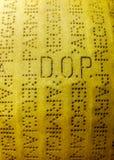 Ciérrese encima de la rueda del queso parmesano Imagen de archivo libre de regalías